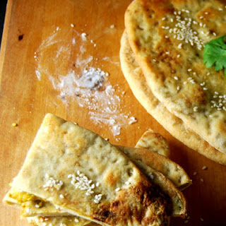 Squash and Tempeh Stuffed Naan