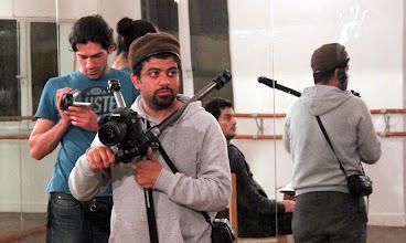 Photo: Ahmad Abdalla, in the set of Microphone - Alexandria 2010, with Microphone stars: Khaled Abul Naga & Ahmed Magdy