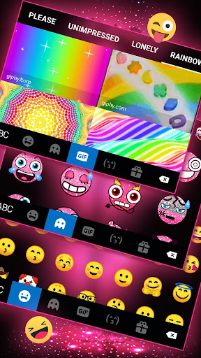 Neon Pink Galaxy Keyboard Theme screenshot 4