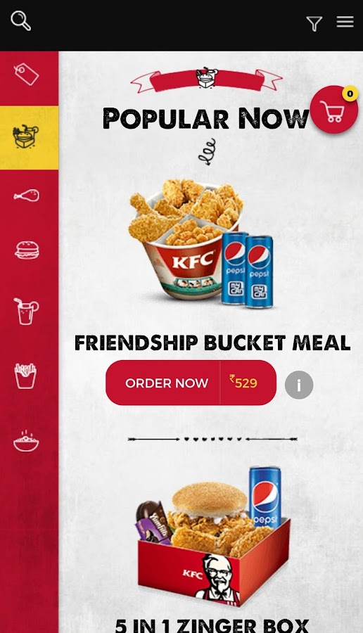 KFC India- screenshot