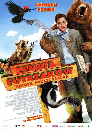 Przód ulotki filmu 'Zemsta Futrzaków'