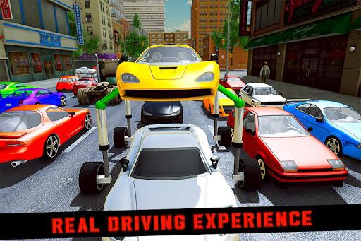 Elevated Car Racing Speed Driving Parking Game screenshot 1