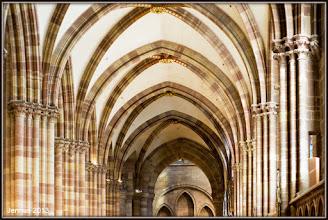 Photo: Seitenschiff im Münster zu Strasbourg