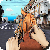Drive Horse In City Simulator
