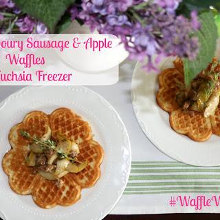 Sweet & Savoury Sausage & Apple Waffles