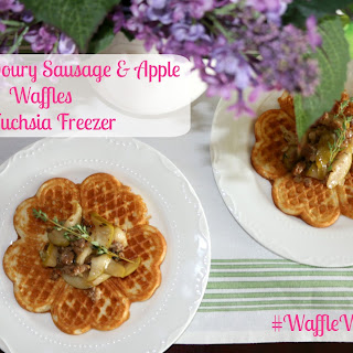 Sweet & Savoury Sausage & Apple Waffles.