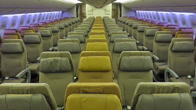 Photo: Aft economy cabin on Singapore Air's new B777-300ER