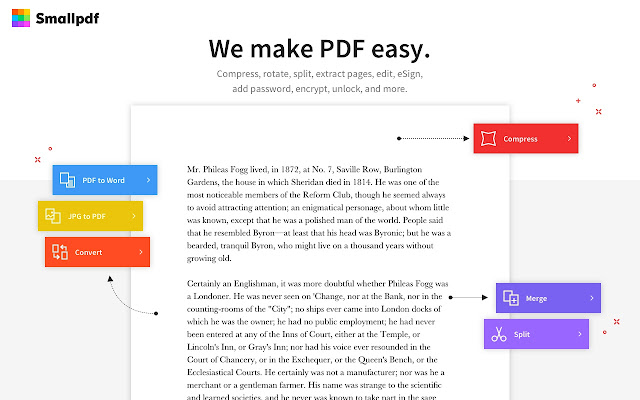 Smallpdf - Edit, Compress and Convert PDFs - Chrome Web Store