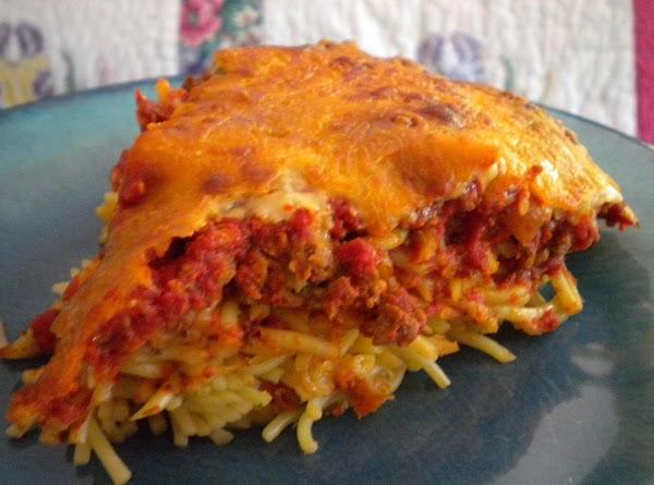 Thick & Cheesy Spaghetti Pie Recipe