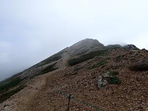 中岳に向けて登りに