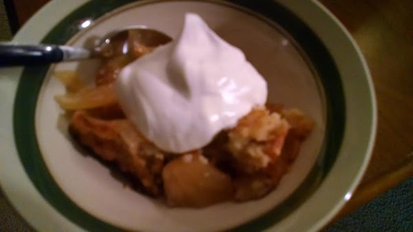 Serve warm--with vanilla ice cream, or whipped topping, if desired.