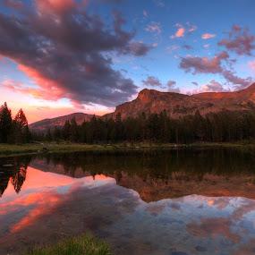 yes by Casey Mitchell - Landscapes Sunsets & Sunrises ( park, yosemite, california, sunset, lake,  )