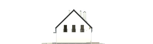Bernikla z garażem 2-st. bliźniak A1-BL1 - Elewacja prawa
