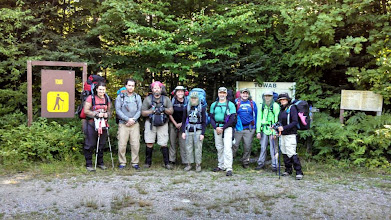 Photo: Towab trail trekking team. 10 hours of hiking in difficult terrain on day one.