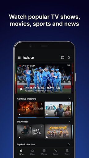 Hotstar mod apk for ipl screenshot 1