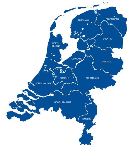 Χάρτης Ολλανδίας
