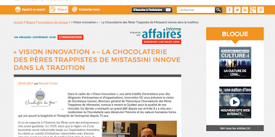 «Vision innovation » – la Chocolaterie des Pères Trappistes de Mistassini innove dans la tradition Innovation 02