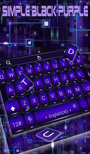 Download Simple Black Purple Keyboard Theme MOD APK 1