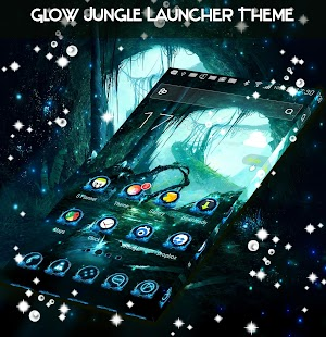 Glow Jungle Launcher Theme - náhled