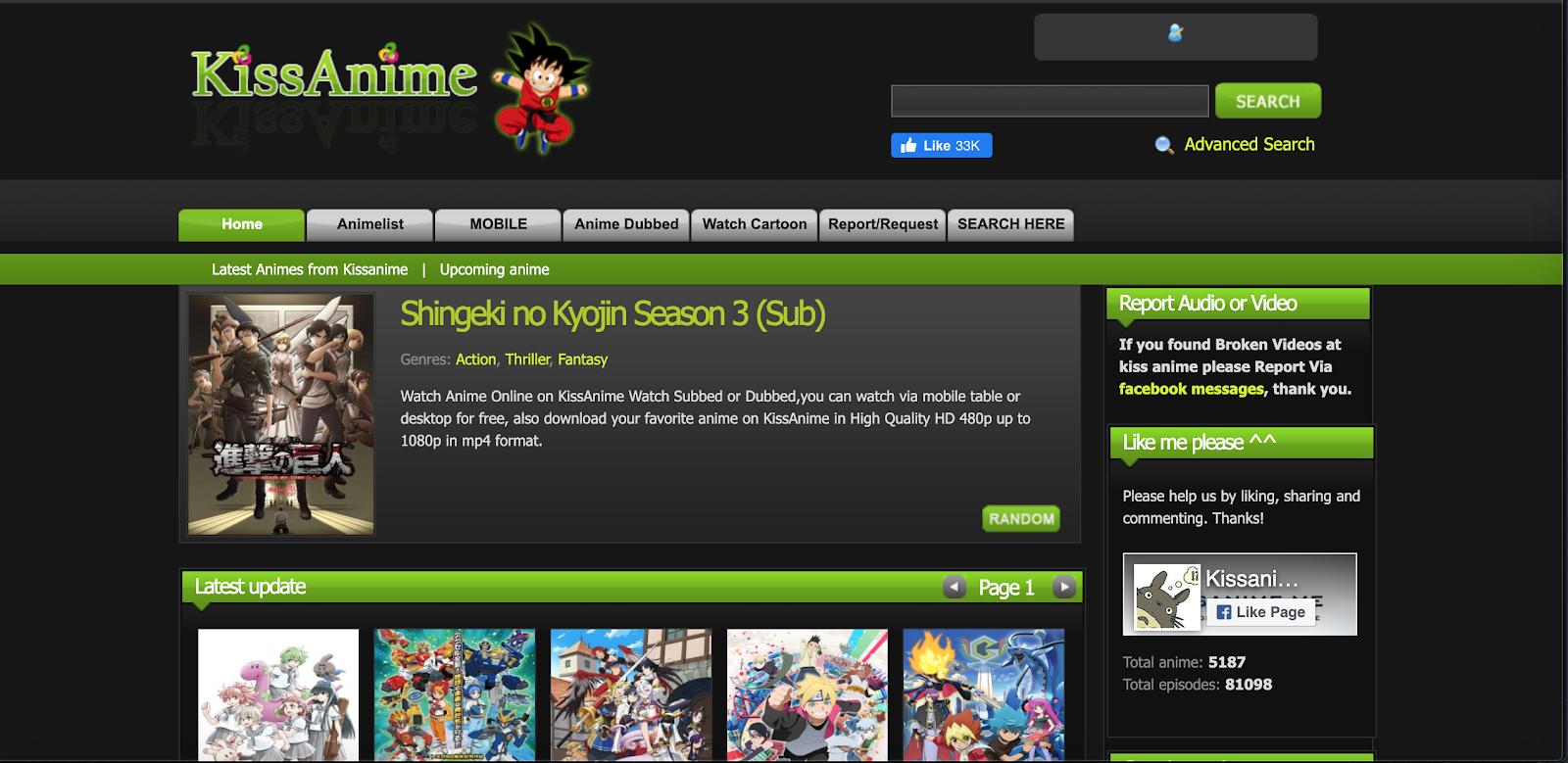 free anime websites