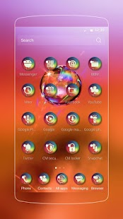 Bubble neon theme icon pack - náhled