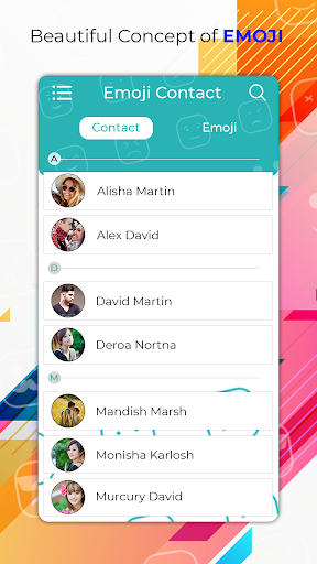 My Emoji Contact's screenshot 1