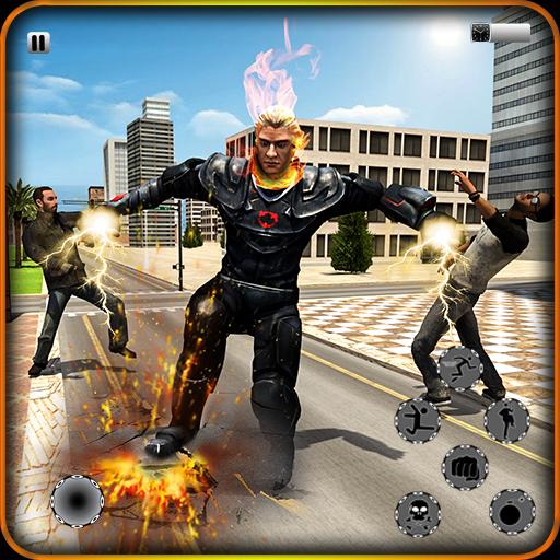 Incredible Fire Skull Hero:Fighter Battle survival