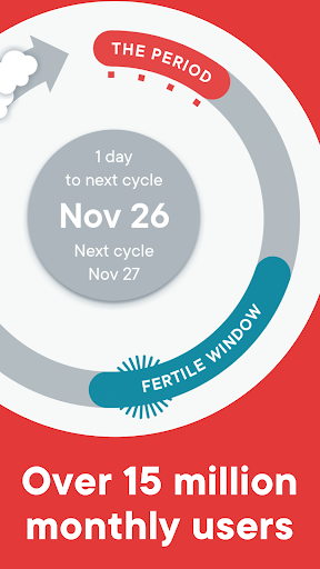 Period Tracker Clue - Ovulation and Cycle Calendar screenshot