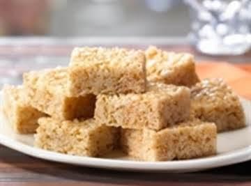 Peanut Cornflake or Rice Krispie Bars (School Cafeteria)