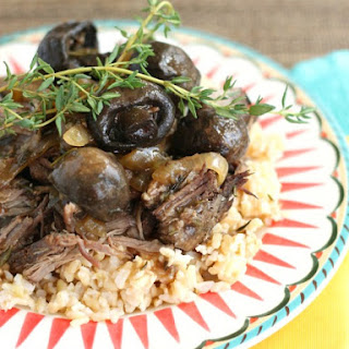 Slow Cooker Beef Roast with Rosemary and Thyme.