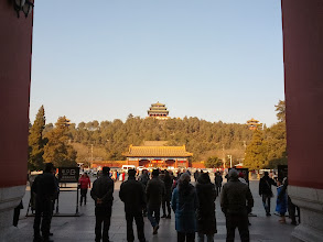 Photo: Leaving the Forbidden City and heading up to Jingshan park