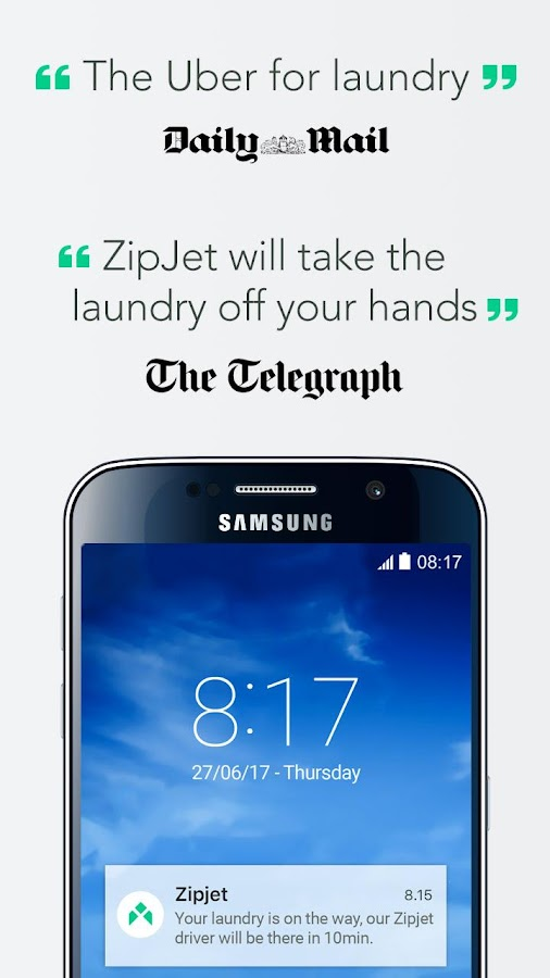 Zipjet: Laundry & Dry Cleaning- screenshot