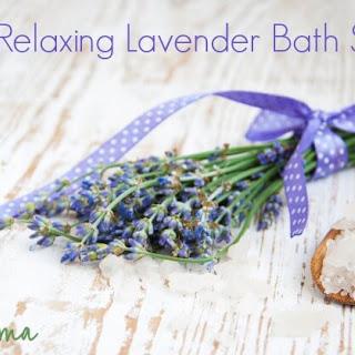 Homemade Lavender Bath Salts.