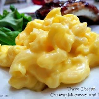 Three Cheese Macaroni and Cheese.