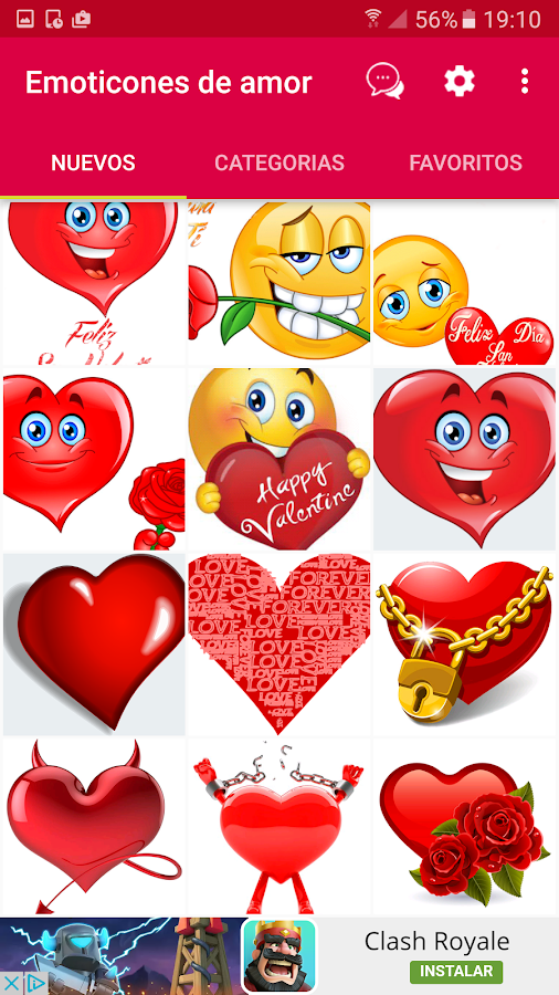 💕😍Love emoticons and stickers for whatsapp- screenshot