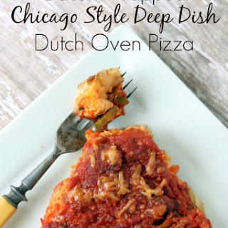 Chicago Style Deep Dish Dutch Oven Pizza - Wrapped in BACON!