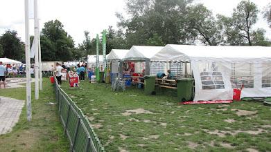 Photo: A miniaturetown of tents has been raised in Tantolunden. Photo: Hans Bergström