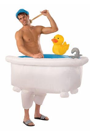 Partydräkt, uppblåsbar badkarsbyxa