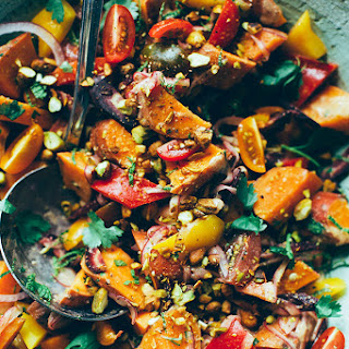Moroccan-ish Sweet Potato Sunshine Salad
