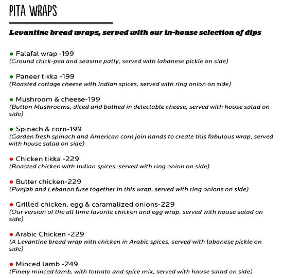 Cafe 21 menu 5