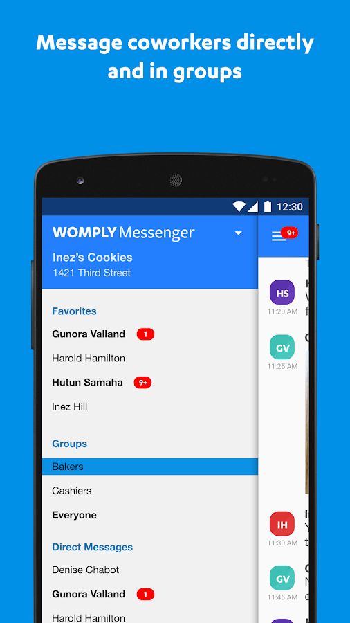 Womply Messenger- screenshot