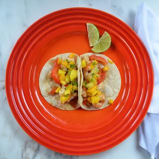 Quick Shrimp Tacos With Pineapple Mango Salsa