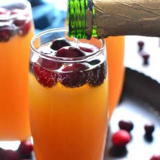 Cranberry-Orange Mimosas.
