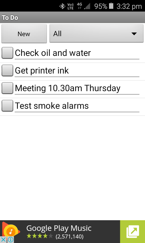 To Do List Notes- screenshot