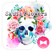 Skull Flowers Wallpaper