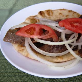 Homemade Greek Gyros.