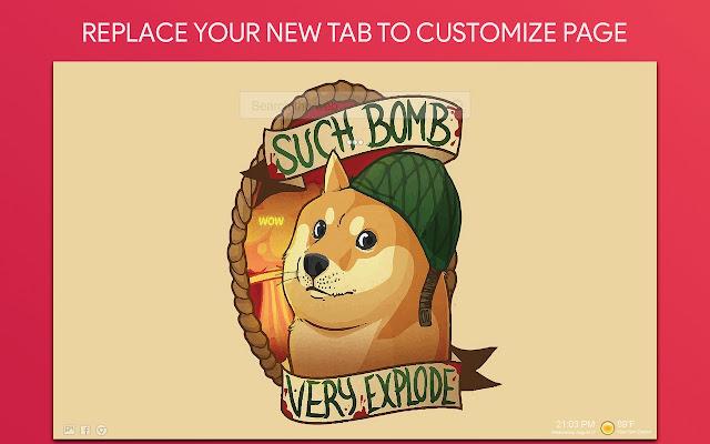 Doge Wallpaper HD Custom New Tab
