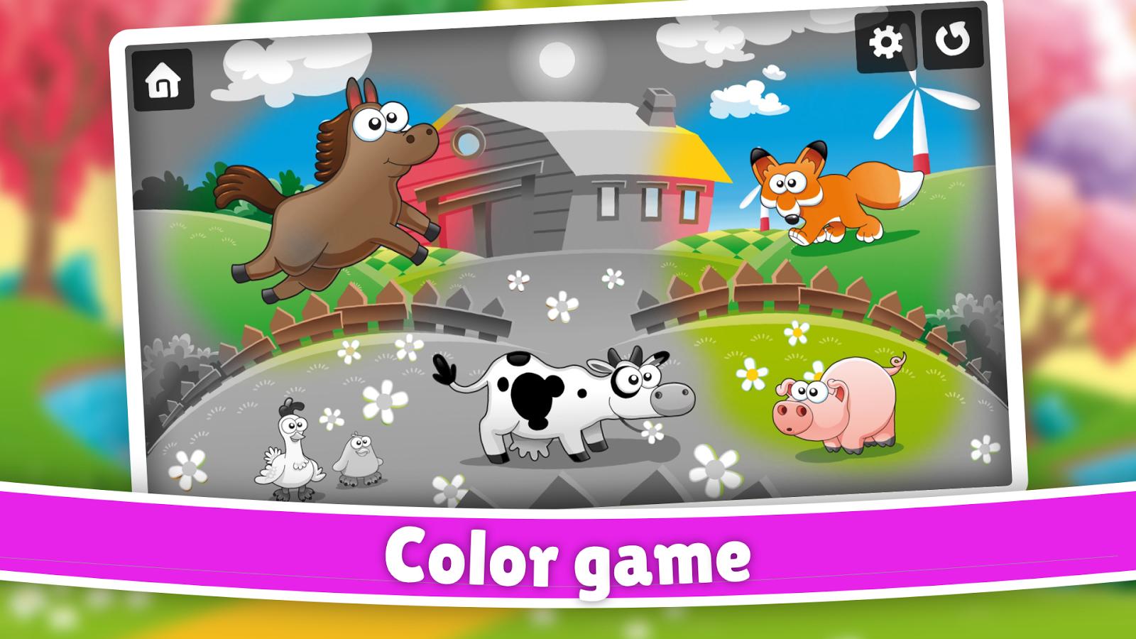 Color game trick - Farm Animals Color Scratch Screenshot