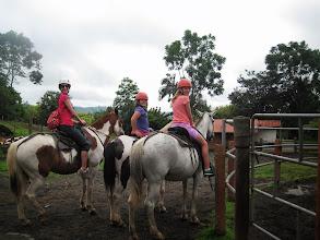 Photo: Horseback riding to the volcano at Los Lagos