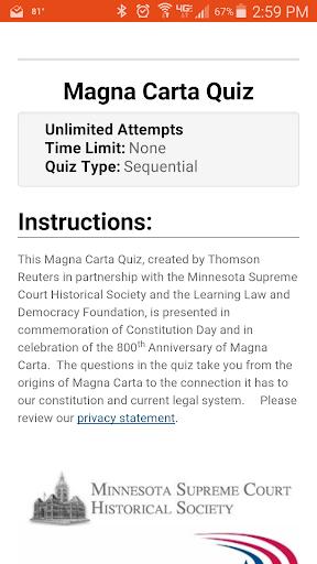Magna Carta Quiz